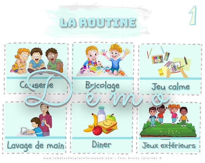 Horaire de la journée - routine visuelle | Milieu de garde - petite enfance