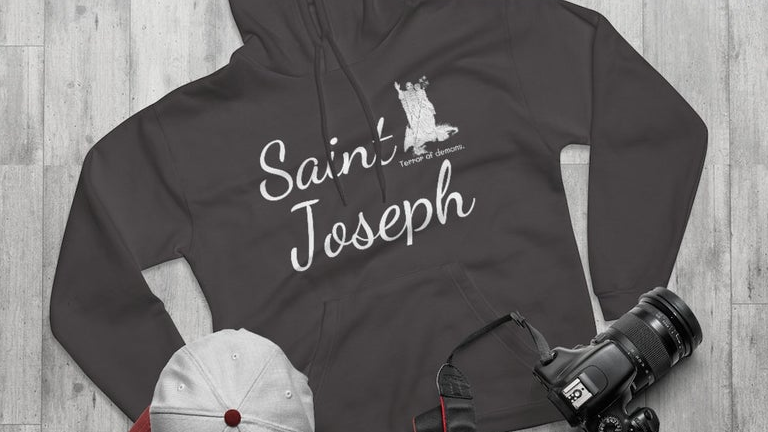 Saint Joseph Terror of Demons Hoodie (Prices include shipping and tax!)