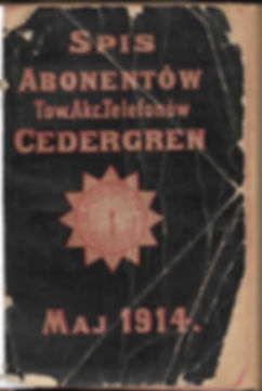 1914 warsaw Telephone Directory