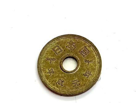 5円玉を# 100000の研磨剤で超鏡面仕上げにする動画