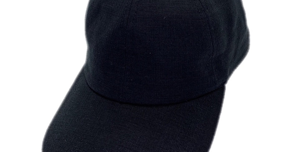 James Lock & Co. Linen Baseball Cap Black ジェームスロック リネン ベースボールキャップ イギリス 帽子