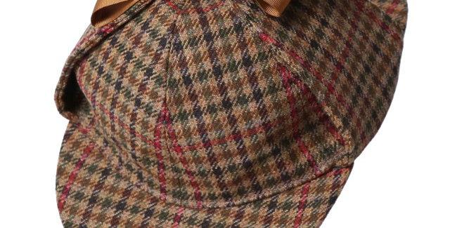James Lock & Co. Tweed Deerstalker hat ジェームスロック シャーロックホームズ イギリス 帽子