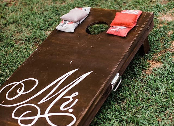 Mr and Mrs CornHole boards