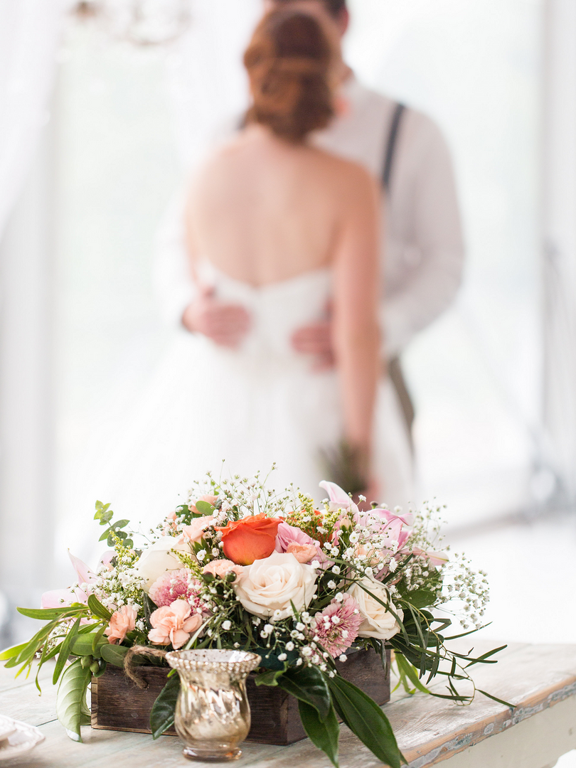 Peach Summer Wedding Inspiration Rustic