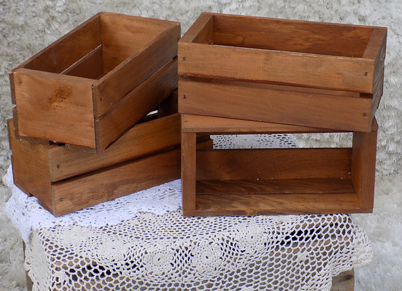 Stained wooden boxes