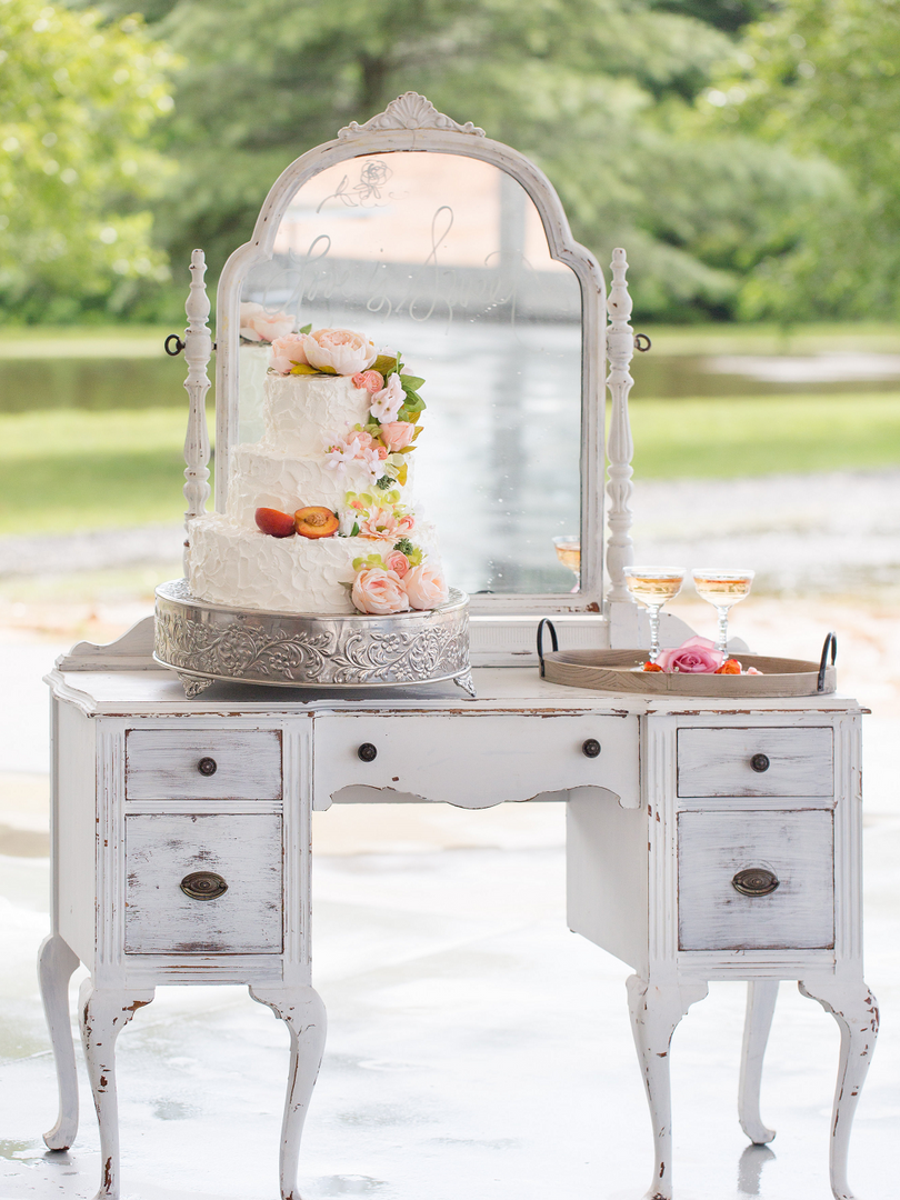 Peach Summer Wedding Inspiration Vintage