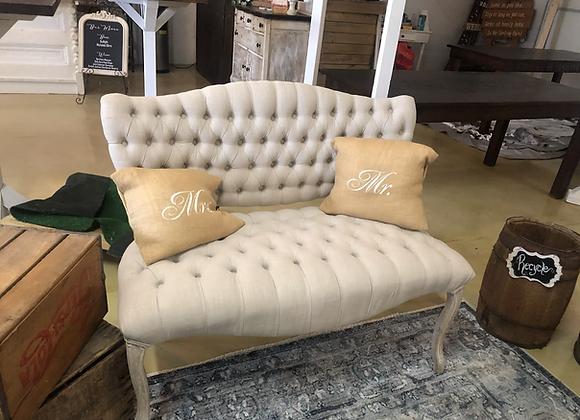 White head table sofa