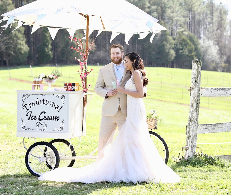 Ice Cream Farm Wedding Styled Shoot Ice