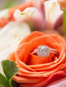 Peach Summer Wedding Inspiration Flowers