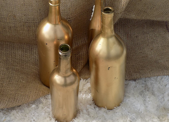 Gold Wine Bottles
