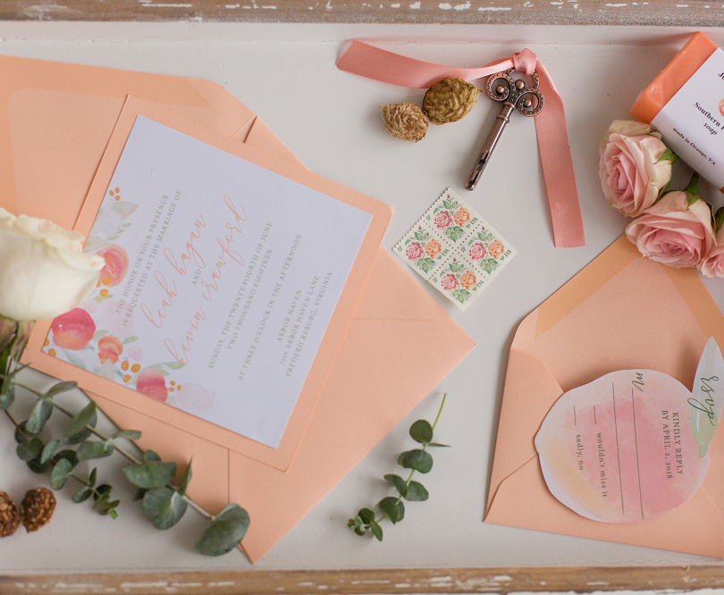 Peach Summer Wedding Inspiration Peach S