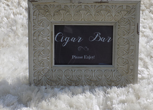 Framed Cigar Bar sign