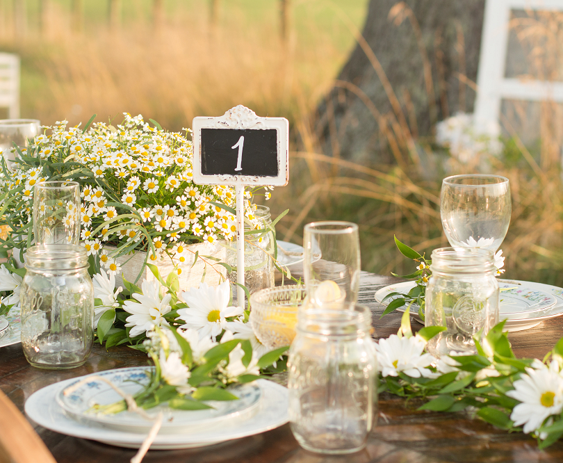 Rustic Farm Table Setting Virginia Weddi