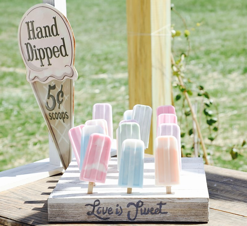 Ice Cream Farm Wedding Styled Shoot Hand