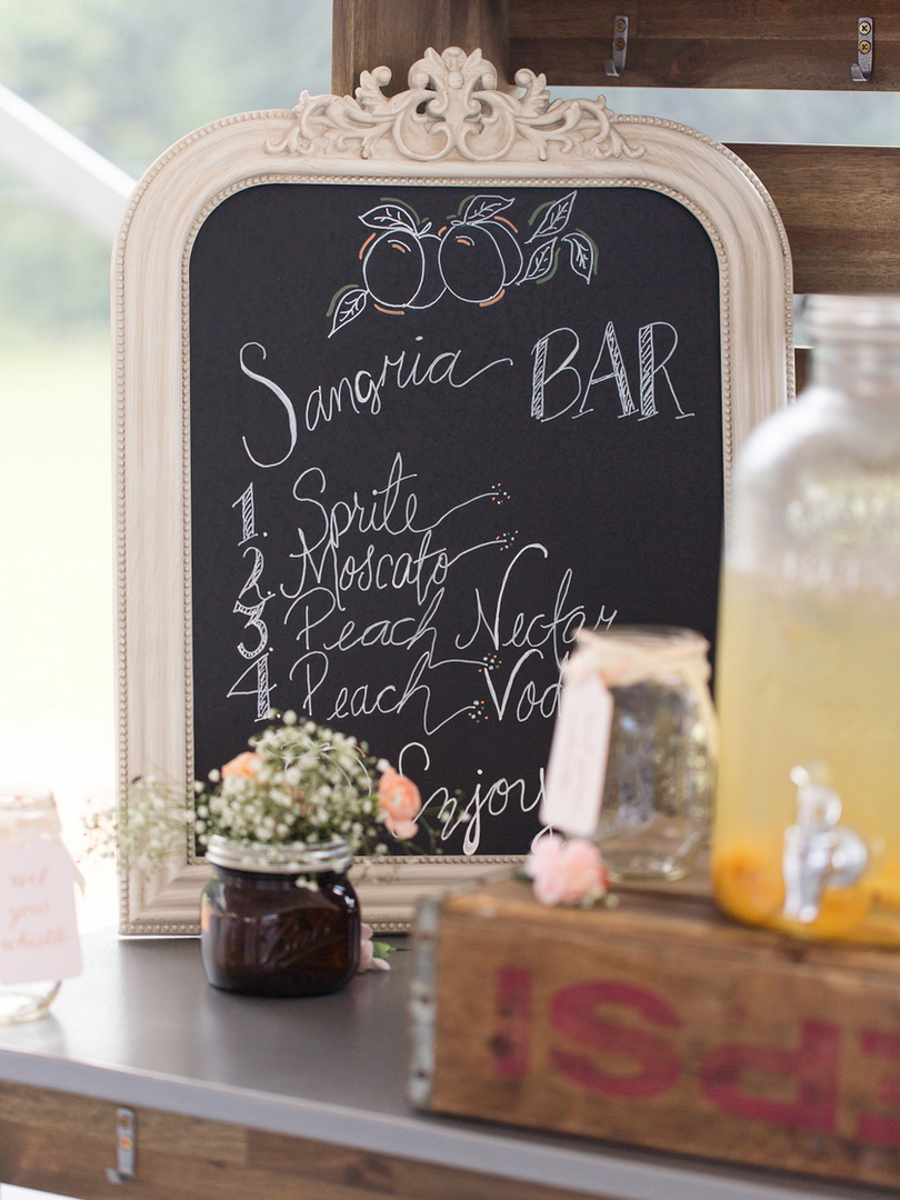 Peach Summer Wedding Inspiration Sangria