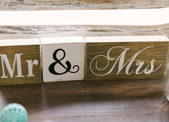 Mr and Mrs. Wooden blocks