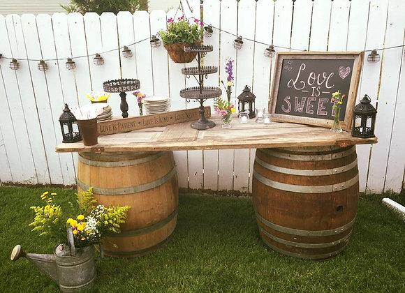 Wine Barrel with Door