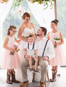 Peach Summer Wedding Inspiration Bridal