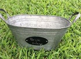 Oval galvanized 1.5 gallon bucket