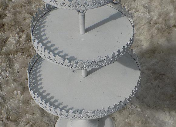 White 3 tier cupcake stand