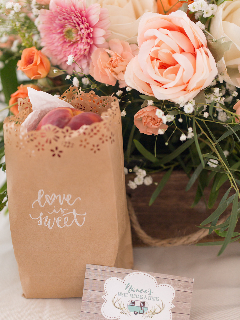 Peach Summer Wedding Inspiration Peach f