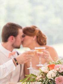 Peach Summer Wedding Inspiration Bride a