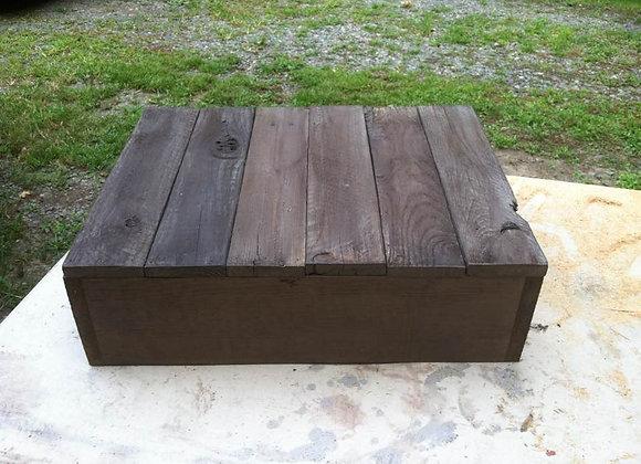 Dark wood cake box