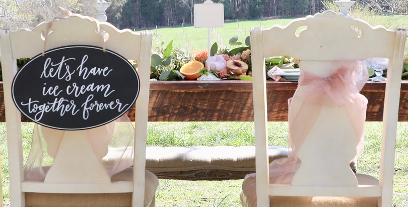 Ice Cream Farm Wedding Styled Shoot Swee