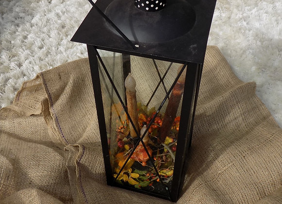 Large tall black lantern
