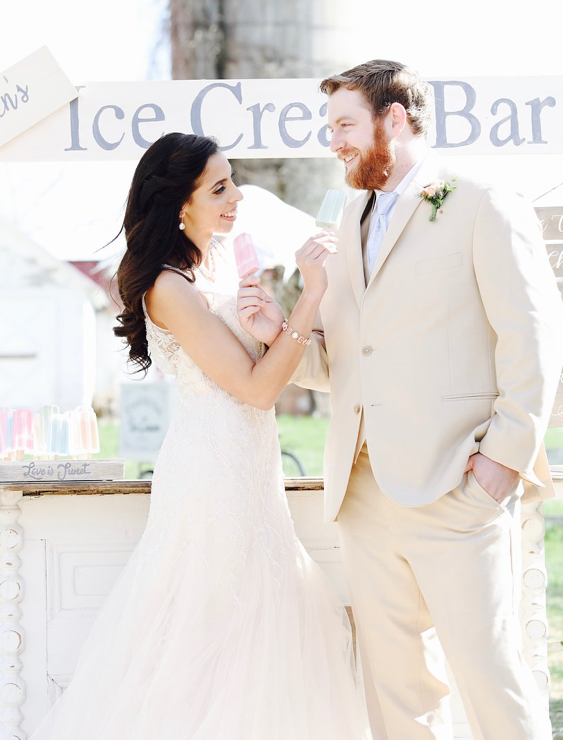 Ice Cream Farm Wedding Styled Shoot Brid