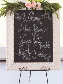 Peach Summer Wedding Inspiration Chalkbo