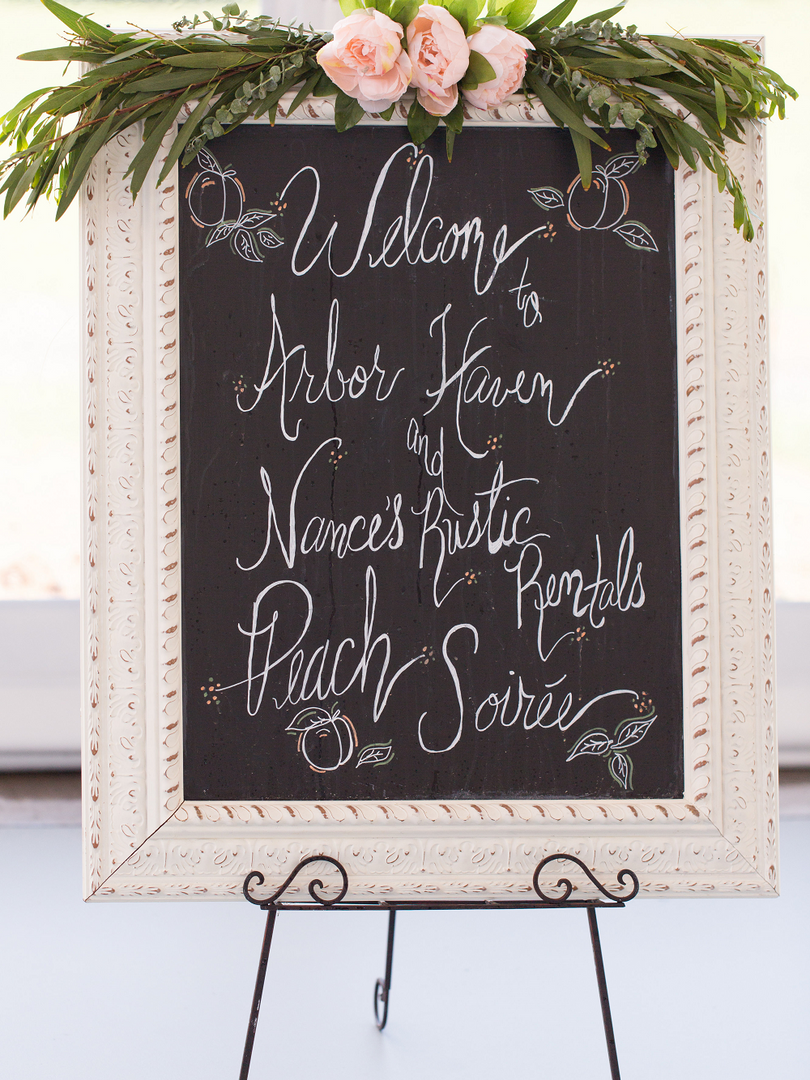 Peach Summer Wedding Inspiration Chalkbo
