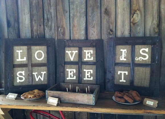 Love is sweet signs