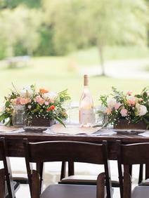 Peach Summer Wedding Inspiration Table S