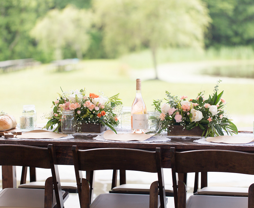 Peach Summer Wedding Inspiration Table S