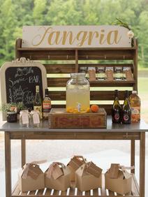 Peach Summer Wedding Inspiration Sangria