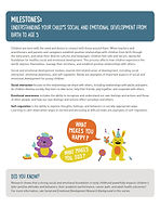 Milestones - Understanding Your Child's Social and Emotional Development from Birth to Age 5