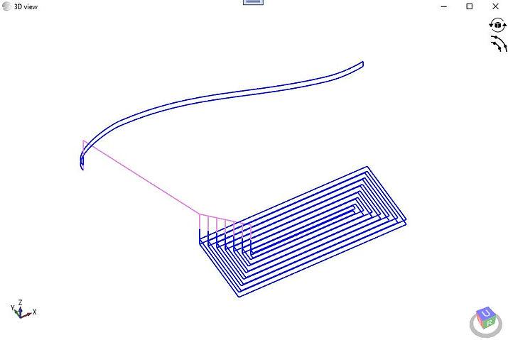3D illustration of G-Code: gCode Generator