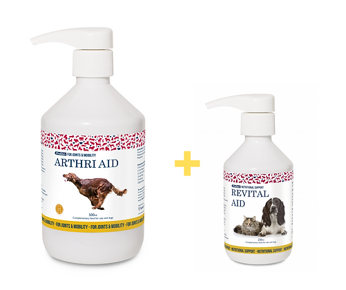 ArthriAid + RevitalAid for dogs and cats