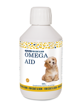 Vitamin for healthy coat and skin Omega Aid for dogs and cats
