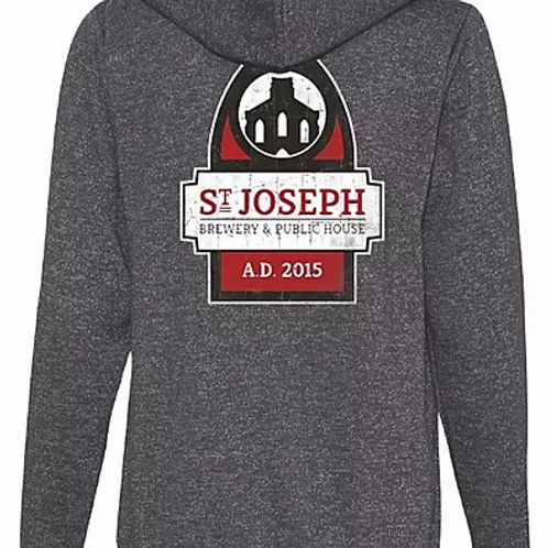 Saint Joseph Brewery Full Zip Hoodie Sweatshirt