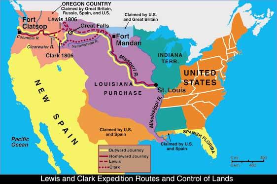 Meriwether Lewis und William Clark Expedition Louisiana Kauf