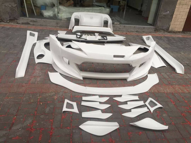 V3  front bumper  front diffuser 2pcs front cannards wide fenders side skirts + side cannards/set rear bumper diffuser 6pcs rear bumper cannards v3 wing with support rods paint + install 175k