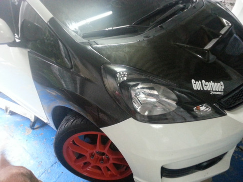 js racing parts hood 17k cannards 7.5 pair grill 6.5k front lip with side diffusers 14k js gt wing 20k rear diffuser 12.5k fenders 15k pair