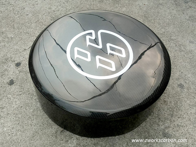 carbon tire cover 12k