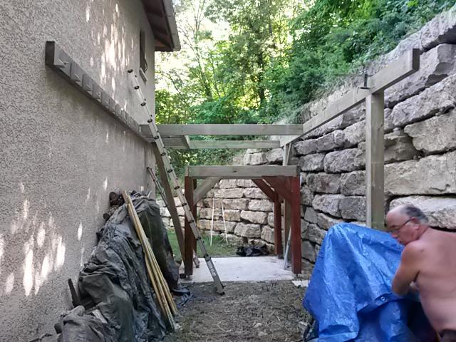 Double structure pour deck et spa