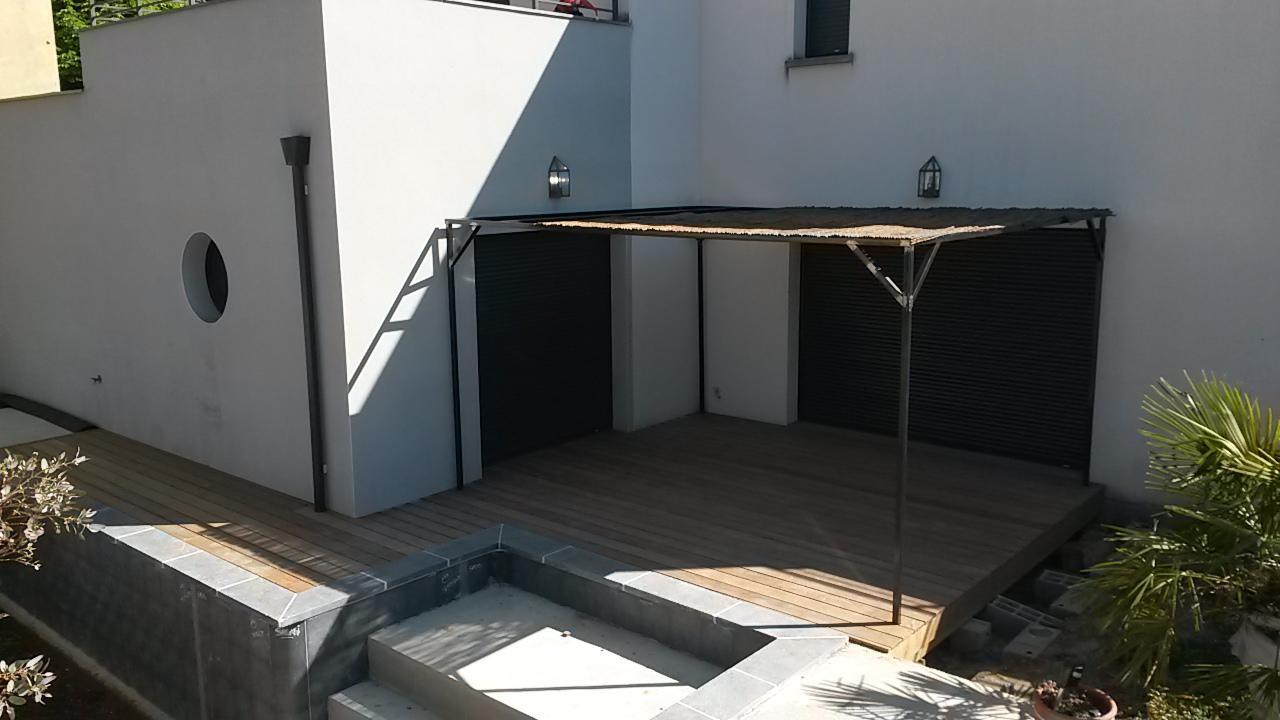 Deck piscine en Ipé 25 m²