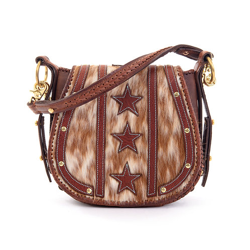 Brown Suede Crossbody Bag