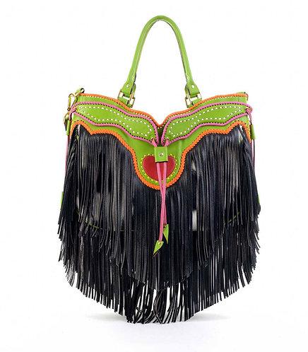 Cowhide Tassel Bag