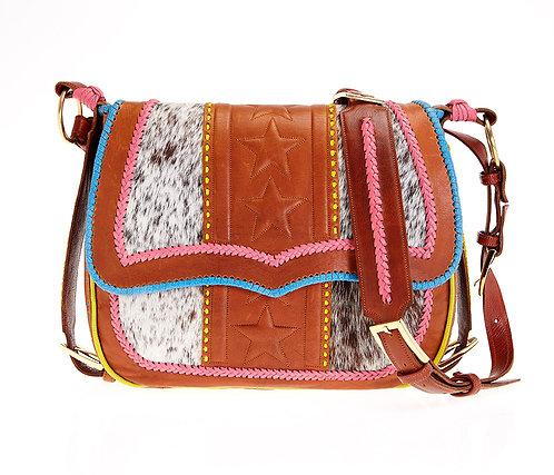Pink Leather Satchel Bag